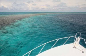 Sailing in Caribbean sea