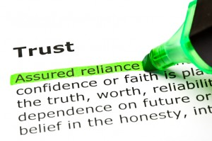 'Assured reliance' highlighted, under 'Trust'