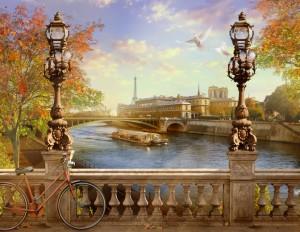 the Seine, Notre Dame de Paris. France.