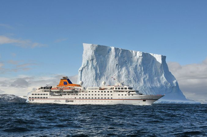 Numerous lines operate proper Expedition voyages to the Southern Continent, including German-based Hapag-Lloyd Cruises. Photo courtesy of Hapag-Lloyd Cruises.