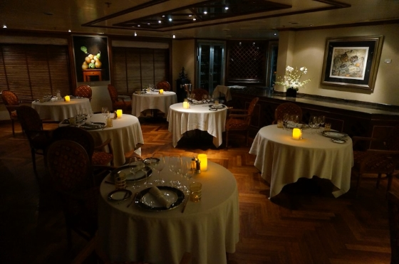 Le Champagne, the only Relais & Chateaux restaurant at sea. © 2014 Ralph Grizzle