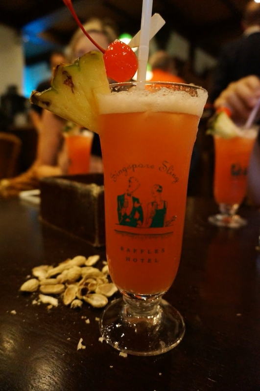 An iconic Singapore Sling to toast the end of a wonderful voyage. © 2014 Ralph Grizzle