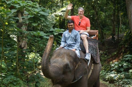 Riding elephants in Bali. © 2014 A friend.