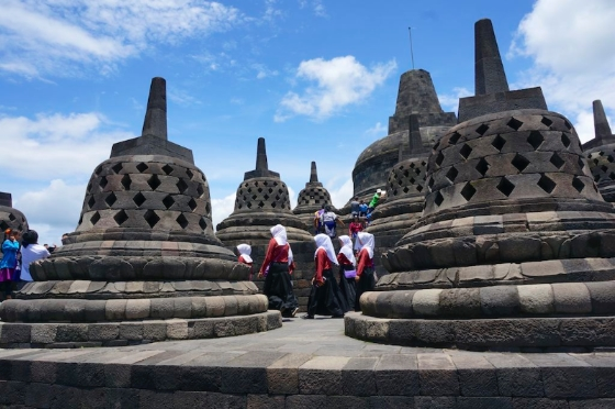 Borobudur, a UNESCO World Heritage Site in Java. © 2014 Ralph Grizzle