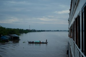 Sailing for Phnom Penh aboard AmaWaterways' AmaLotus. Photo © 2013 Aaron Saunders