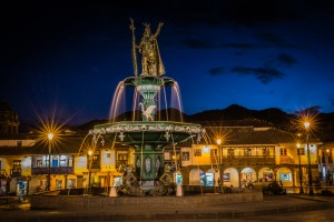 Cusco_Peru_Night_City_Plaza