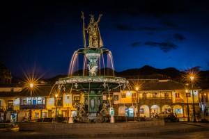 Cusco_Peru_Night_City_Plaza
