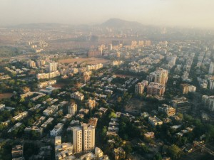 Ariel view of Mumbai