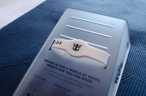 You can access your stateroom with the traditional keycard or with the new RFID WOWband. Photo © 2014 Aaron Saunders