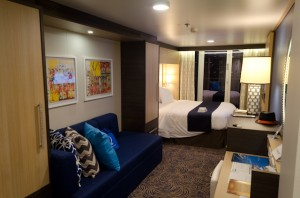 Welcome to my stateroom: a Category D8 Balcony Stateroom on Deck 6. Photo © 2014 Aaron Saunders