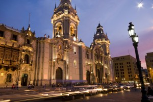 Cathedral on Plaza de Armas, Lima