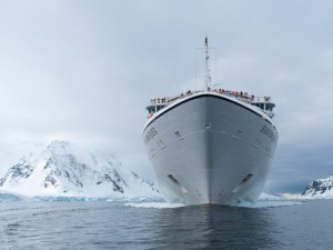 Seabourn Quest headed deeper into Antarctica as we continue our voyage. @ 2014 Ralph Grizzle