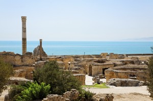 Ruins of ancient Antonine Baths in Carthage
