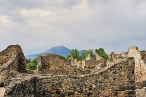 View of Mt. Vesuvius, Pompeii