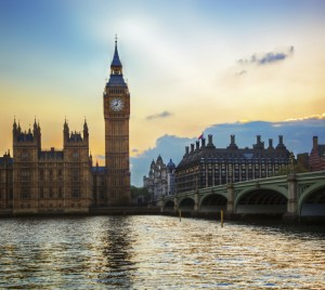 Big Ben and the Palace of Westminister, London, England