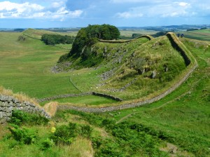 Hadrian's Wall, marks the northern frontier of the Roman Empire