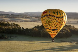Hot air balloon ride over Yarra Valley