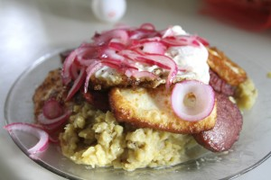 Mangu, a traditional Dominican breakfast