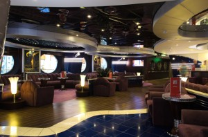 My absolute favorite lounge so far: the art deco, ocean liner-inspired La Luna Piano Bar. Photo © 2015 Aaron Saunders