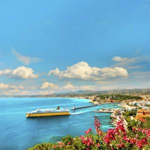 View of Mediterranean Resort, Nice, France