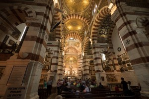 Notre Dame de la Garde's busy Byzantine interior. © 2014 Avid Travel Media