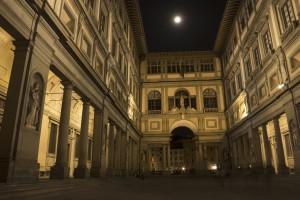 Uffizi Gallery at Night
