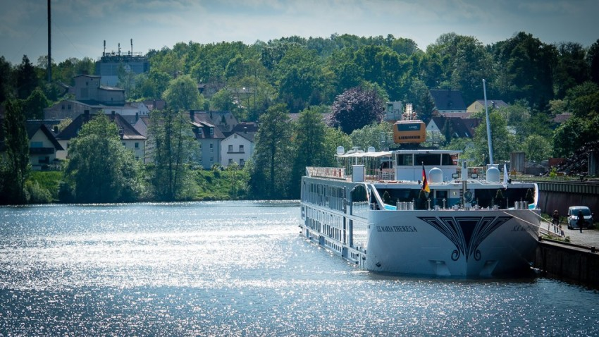 Uniworld's S.S. Maria Theresa docked in Bamberg. © 2015 Ralph Grizzle