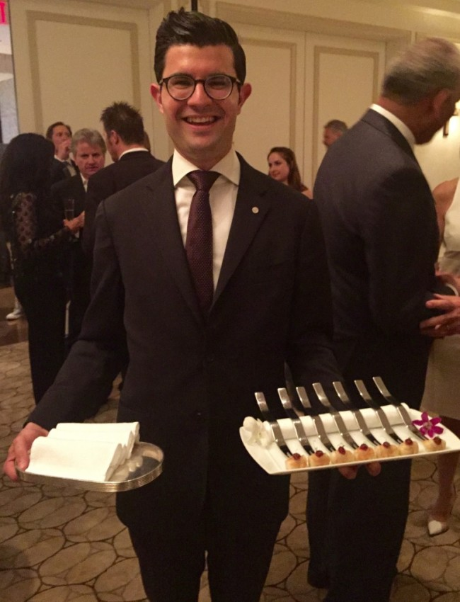 We enjoyed a sampling of Keller's canapés last night at Per Se in New York. © 2015 Ralph Grizzle
