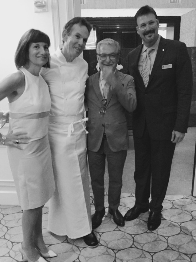 From left, Marnie Tihany, Thomas Keller, Adam D. Tihany and Rick Meadows, president of Seabourn. © 2015 Ralph Grizzle