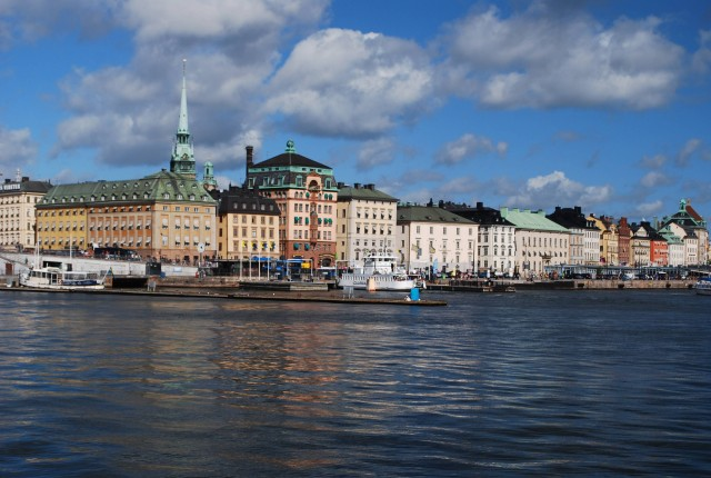 The skyline of Gamla Stan – historic Old Stockholm