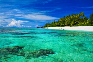 Beautiful snorkeling beach on Rarotonga