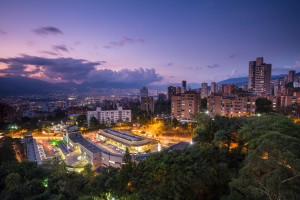 View of Medellin At Night