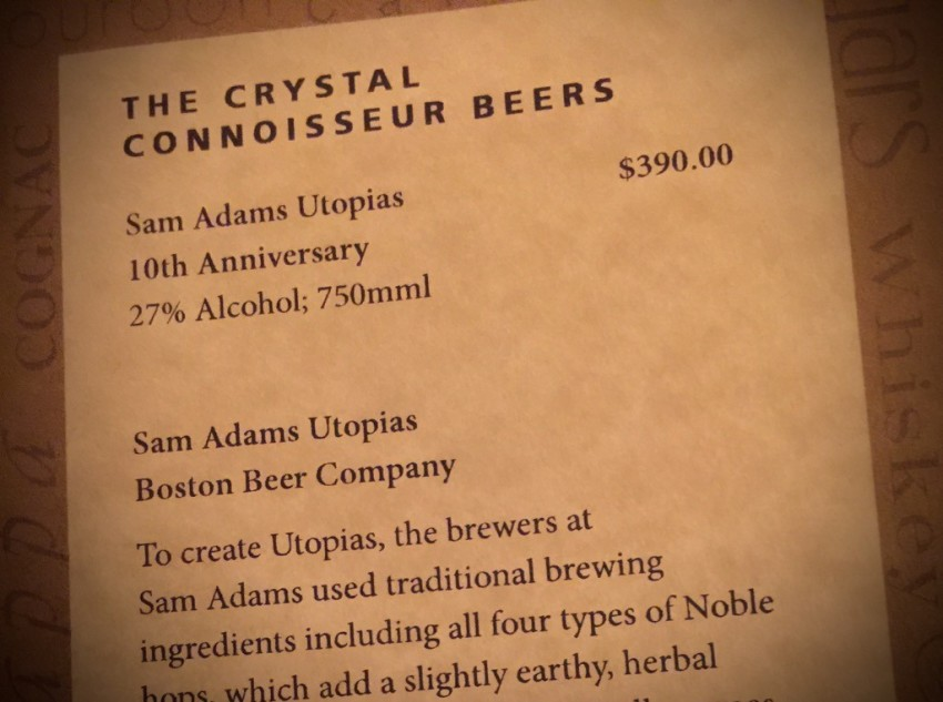 On Crystal's Connoisseur list of beers. © 2015 Ralph Grizzle