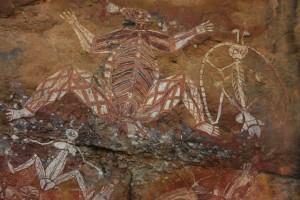 Aboriginal art at Kakadu National Park