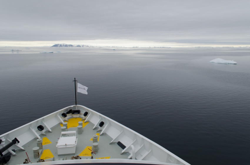 The Arctic can be rough, but on our sailing it was like a pond. Photo © 2015 Aaron Saunders