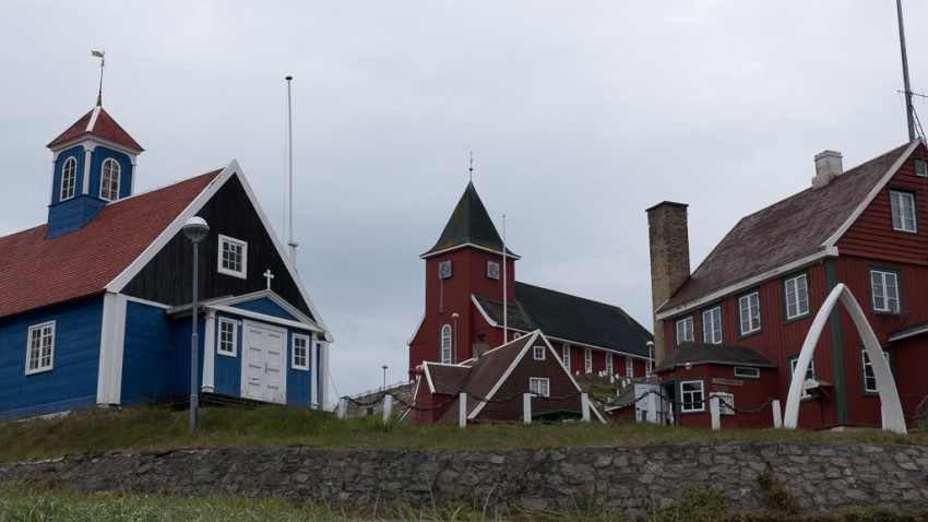Sisimiut's museum and church. © 2015 Ralph Grizzle