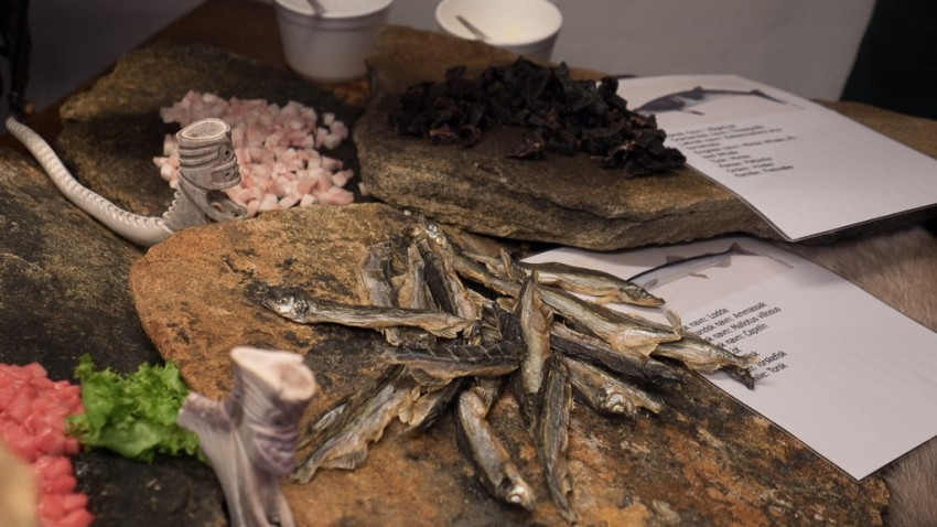 We sampled local foods, including dried fish and whale. © 2015 Ralph Grizzle