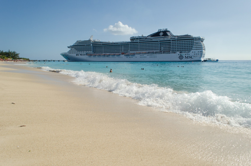 MSC Divina docked in Grand Turk, Turks & Caicos, on an Eastern Caribbean cruise. © 2015 Aaron Saunders