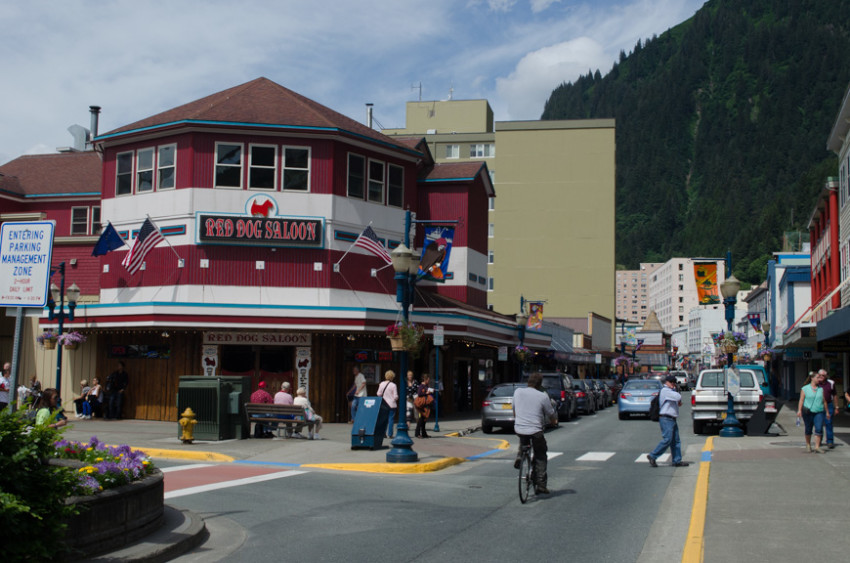 "Juneau, Alaska. One of the ""big three ports,"" Juneau is frequently overcrowded with tourists arriving on multiple megaships. Photo © 2015 Aaron Saunders"