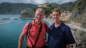 Ralph & Alex Grizzle in Cinque Terre.