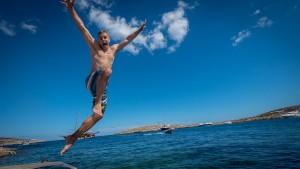 Chris takes the leap.