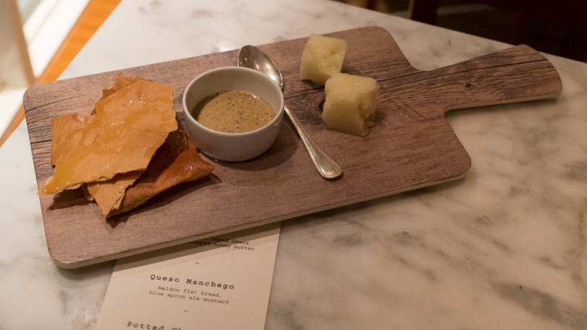 A twist on Manchego cheese served in the Colonnade.