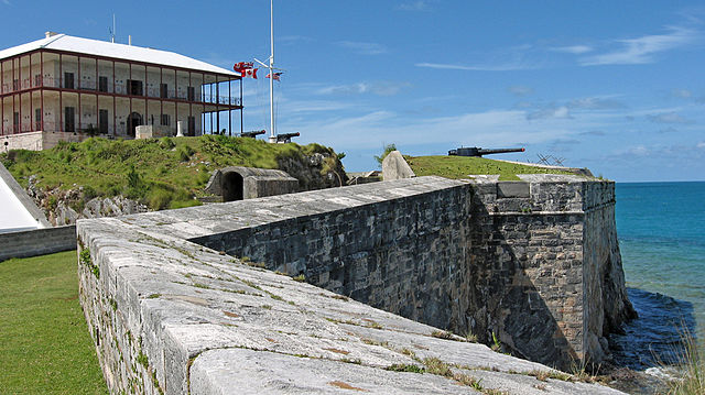 Bermuda's Royal Naval Dockyard is close to the Commissioner's House, pictured here.