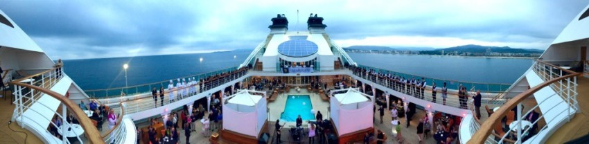 Seabourn Odyssey pool deck party.