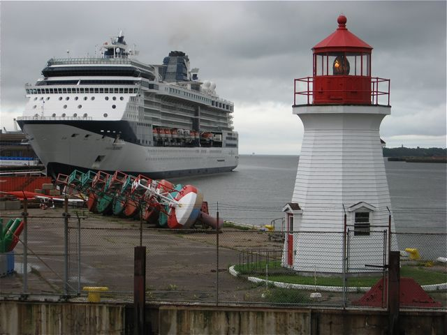 """Celebrity Summit docked in one of the """"classic"""" Canada & New England itinerary ports of Saint John, New Brunswick."""