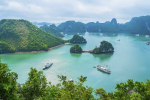 The Islands in Halong Bay