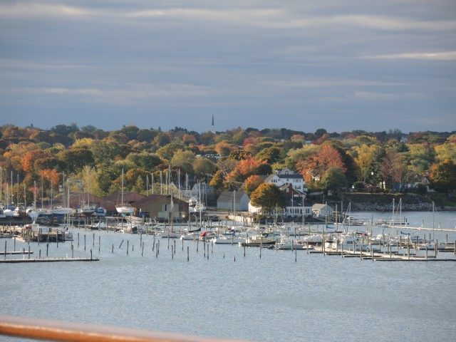 The city of Portland, Maine in full autumn dress