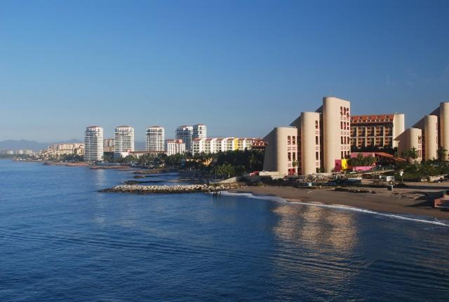 The modern skyline of Puerto Vallarta