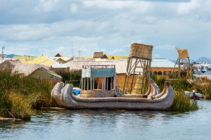 One of the many islands in Lake Titicaca