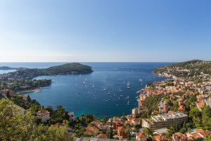 The Mediterranean Sea along Villefranche, France